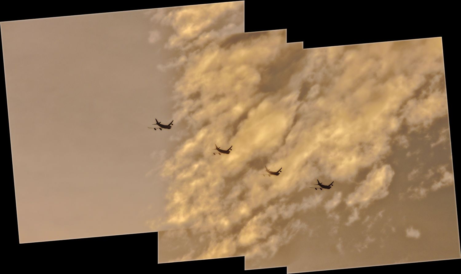 Sky caravan. A panorama of an airplane with clouds. - Saving Air Force One - - art  - photography - by Tony Karp